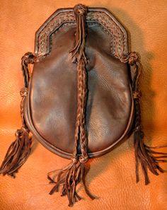 Leather sporran. Scottish Tartans Museum. Britt Ferguson.