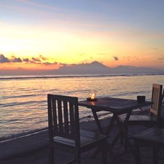 Sunset at Paradise sunset bar, Gili Trawangan