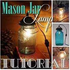 The Resourceful Gals: Mason Jar Lamp Tutorial