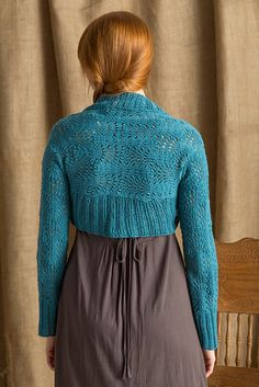 Back detail from the Vixen Charm pattern by Tabetha Hedrick, knit in #CEY_Yarns #Soft_Linen. Available in the pattern book #All_Seasons.