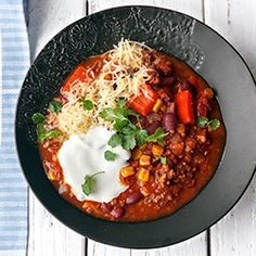 Chili con carne z chorizo
