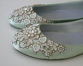 Violet Snowflake Bridal Ballet Flats Wedding Shoes - Any Size - Pick your own shoe color and crystal color. $155.00, via Etsy.