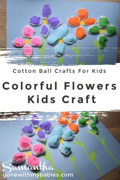 Seriously Adorable Cotton Ball Crafts For Kids - Gone With My Babies Craft Projects For Kids, Spring Activities, Summer Activities For Kids, Easy Crafts For Kids, Arts And Crafts Projects, Craft Activities, Diy For Kids, Cotton Ball Crafts, Spring Arts And Crafts