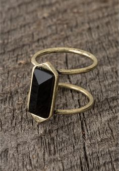 double band black stone ring - Lacey Ryan Collection - maurices.com