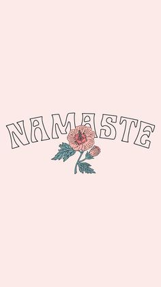 Find images and videos about cute, text and wallpaper on We Heart It - the app to get lost in what you love. Wallpapers Tumblr, Tumblr Wallpaper, Cute Wallpapers, Wallpaper Backgrounds, Iphone Wallpaper Yoga, Phone Wallpapers, Namaste Symbol, Namaste Tattoo, Aesthetic Iphone Wallpaper