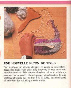 shaped weaving ... pin loom... tissage malin et simple ou comment tisser sans métier