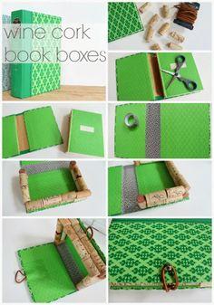 How to make a wine cork book box!