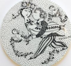 Bjorn Wiinblad, March plate - vintage Love story - Nymolle. Marriage in the month of March. Vintage wall decor. Danish design by FridasVintage on Etsy