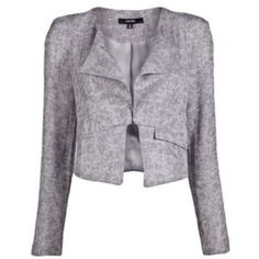 Funktional carerra crop jacket Single flap lapel. Hook eye closure. Two front pockets and shoulder pads. Please note I do not own the first photo. Great condition!      🙅🏼trades or PPa 😺friendly home  💖serious buyers only! 💗💓Bundles of 5 or more items are 50% off! This discount will have to be applied manually since posh only allows up to 30%. If you're interested in this deal, let me know and I'll make you a personalized listing! 💗💓 Jackets & Coats