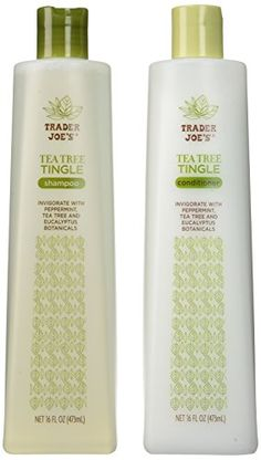Trader Joe's Tea Tree Tingle Shampoo & Conditioner, 16 oz. Trader Joe's