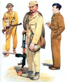 • Egyptian infantry corporal, 1948-49  • Egyptian infantryman, Sinai, 1967  • Egyptian infantry captain, 1956