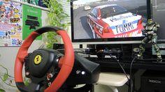 [13] Xbox One Forza 6  Thrustmaster Ferrari 458 Spider Racing Wheel Game...