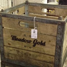 Love this vintage milk crate!  What can I repurpose this for?