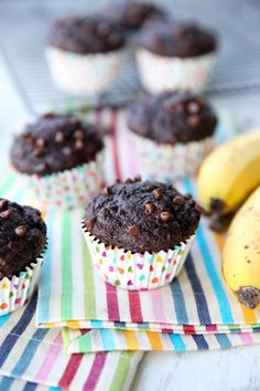 Skinny Banana Fudge Muffins from Our Best Bites