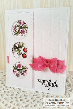Out To Impress: Power & Spark! Happy Crabapples  stamp set by Power Poppy, card design by Julie Koerber
