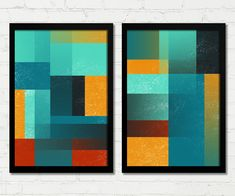 Happy Colors, Diy Canvas, Bananas, Painting, Link, Home Decor, Black Molding, White Frames, Abstract Canvas