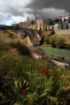 """Toledo, Spain....have a picture from this exact spot 6/5/12. Beautiful city! Very """"holy"""" city, creating the phrase..""""Holy Toledo"""""""