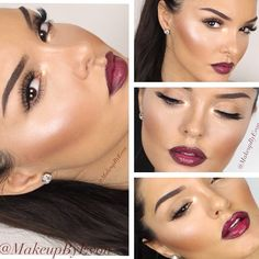.@makeupbyevon | Bold Lips Long Lashes And Dewy skin.✨ List of products: Foundation: used air... | Webstagram