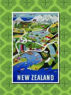 New Zealand Travel Poster Wall Decor 7 print by TheWorldTravelers, $6.99