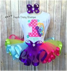 Butterfly Birthday Outfit Spring Birthday by PurpleDaisyBoutique