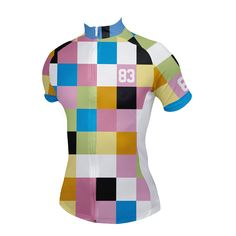 Blocks Women's Cycling Jersey - Front View -  http://www.cyclegarb.com/blocks-womens-cycling-jersey.html