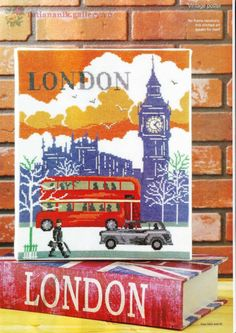 London Scene Free Cross Stitch Pattern. There are other free patterns, too. Just click through the pics!