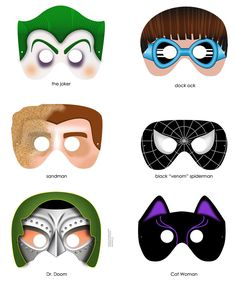 Superhero Mask Template   Download  Fer Y Dany