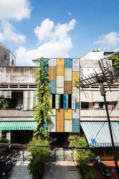 vegan house's colorful shutterred exterior / sfgirlbybay