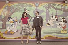 vintage disney engagement photoshoot. in love with these!