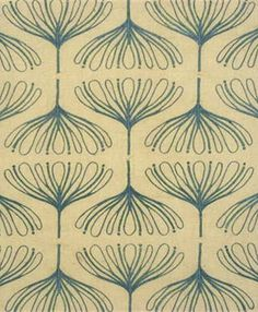 Fabric Patterns Lela Embroidery Dusk by Groundworks Fabric Thomas O'brien Textiles Vol.Ii Linen Cotton Rayon India Medium Horizontal: inches and Vertical: 10 inches 54 inches - Fabric Carolina - - Overview Shipping Textile Prints, Textile Patterns, Textile Design, Design Art, Lino Prints, Block Prints, Embroidery Patterns, Surface Pattern, Pattern Art