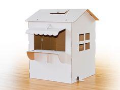 Dieses Papphaus in der Form eines Kaufmannsladen ist der absolute Hit bei allen Kindern. Denn im Gegensatz zu Alternativen aus Holz und Pappe hat d...