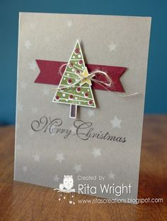 Rita's Creations: Stampin' Up! Festival of Trees #stampinup #holidaycatalog