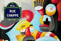 La rue Chappe (Paris 18ème).
