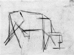 Composición (La Vaca), 1917. Cubismo - Theo van Doesburg