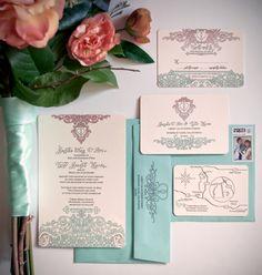 Stamp made through Zazzle. DIY wedding inviation