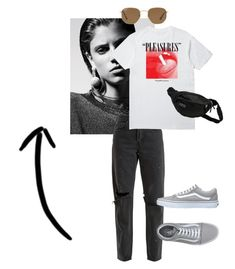 """""""Untitled #7"""" by silje-bjorkelid on Polyvore featuring RE/DONE, Pleasures, JanSport, Ray-Ban and Vans"""