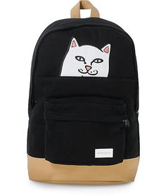 Now you can take Nermal with you wherever you go with the Nermal backpack from RipNDip. This black faux cordorouy construction features one large main compartment, a storage sleeve with a large Nermal patch, and a small storage pouch on the front. This ba