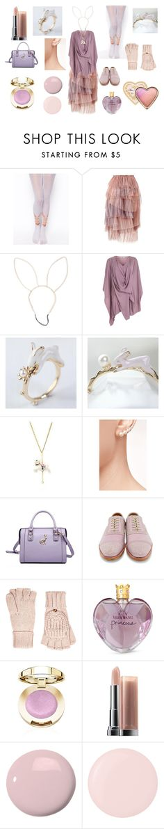 """The Rabbit Bride"" by maggiehemlock ❤ liked on Polyvore featuring ASOS, Burberry, Cuteberry, Hop Skip & Flutter, Sophie Bille Brahe, MBaoBao, John Fluevog, Accessorize, Vera Wang and Maybelline"