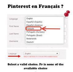 #Pinterest sera bientôt en Français. Pour l'instant cela bugue de mon compte et chez vous ?