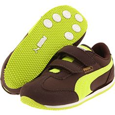 538d197e1a4a Puma kids whirlwind v infant toddler youth black coffee lime punch chocolate