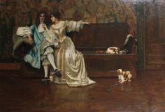 Rowland Holyoake (1880-1911) - Charles II and Nell Gwynn