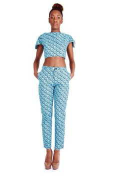 Ankara cropped top set. Not for me (with my curves) but like it