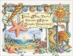 Cross Stitch Craze: Beach Cross Stitch Simple Treasures