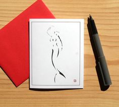 Mermaid Card  Art Card  Digital Mermaid  Blank Card  by Sabastica