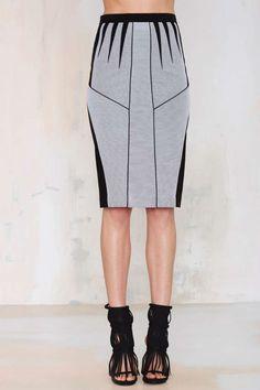 Deco Pencil Skirt