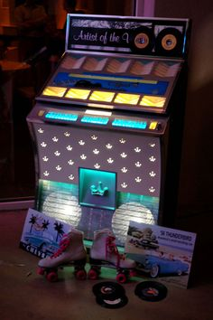 50s decor; juke box; 50s event idea