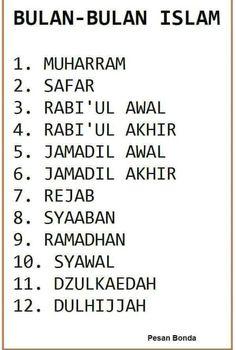 Nama bulan bulan islam.