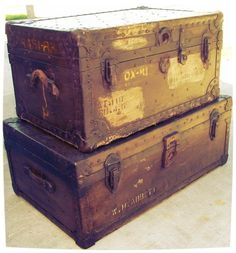 Foot Locker Storage Chest Endearing Huge 1700's Steamer Trunk Antique Immigrant Trunk Blanket Chest Decorating Design