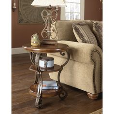 Signature Designs by Ashley 'Nestor' Medium Brown Chair Side End Table - Overstock™ Shopping - Great Deals on Signature Design by Ashley Coffee, Sofa & End Tables