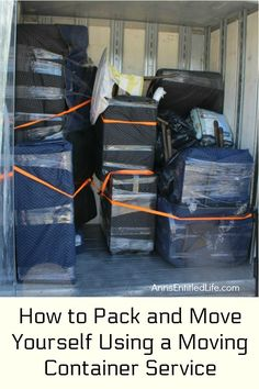 How to Pack and Move Yourself Using a Moving Container Service. This is how we moved our household l Moving House Tips, Moving Tips, Moving Out, Moving Hacks, Pods Moving, Moving Boxes, Moving Containers, Moving Blankets, Packing To Move